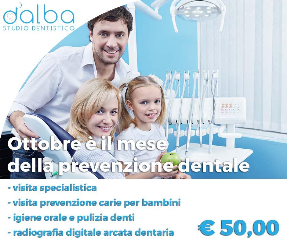 immagine raffigurante una famiglia in uno studio dentistico