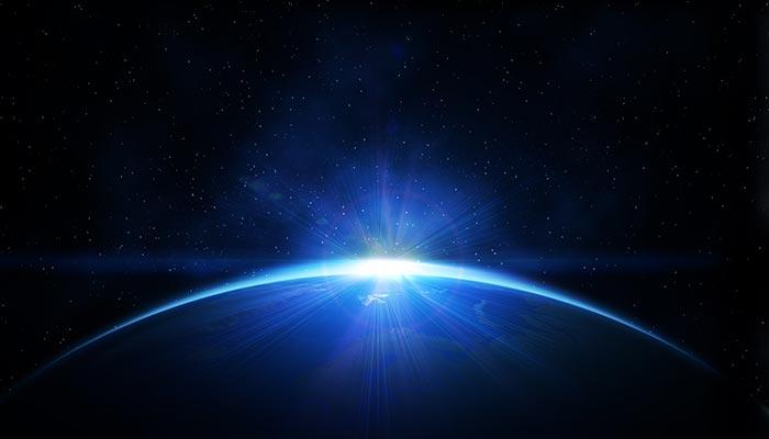 Immagine futuristica della terra che richiama il concetto di cellule staminali